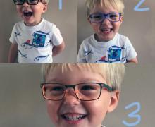 Choose 1 or 2 (or 3!) - Colorful Eye Glasses Frames Available for Children