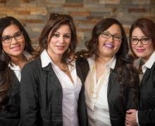 Viviana Arias, Administrative, Trista Zavala, Optician, Martha Jimenez, Insurance Coordinator, Michelle Caban, Administrative