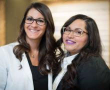 Dr. Miller O.D., Diplomate, American Board of Optometry and Martha Jimenez, Insurance Coordinator