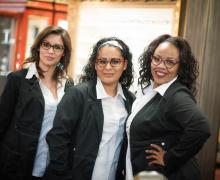 Trista Zavala, Optician, Mayra Orenday and Shameka Berryman, Administrative Staff Members