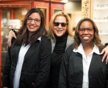 Nikisha Henderson, Optician, Dale R. Savin, Creative Director and Yolanda Bland, Optician