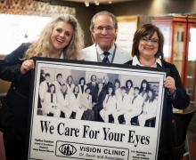 Chris Potthast, Ophthalmic Technician, Bruce A. Savin O.D., F.A.B.C.O., Betsy Nelson, Optician