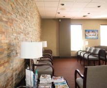 Dr. Savin & Associates — Newly redesigned reception area
