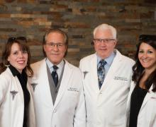 Michelle Titzkowski, Practice Manager, Bruce A. Savin O.D., F.A.B.C.O., Rick D. Andersen O.D., F.A.A.O., Chelsea Miller O.D., Diplomate, American Board of Optometry
