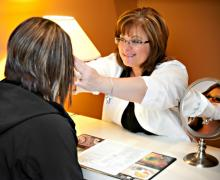 Custom eye wear and glasses fitting and adjustment